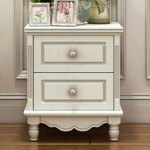 YY Meubles ménagères Table de chevet Moderne Minimaliste Chambre à coucher Café Casiers Petit Appartement Dortoir Armoires de rangement avec tiroirs (Color : White)