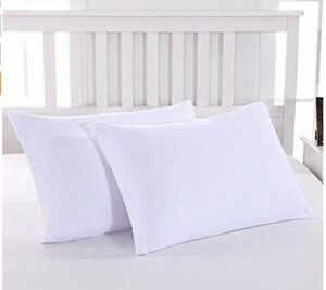 18 Couleurs Lot de 2 Taie d'oreiller 50 x 70 cm White en Microfibre Fermeture Éclair Housse d'oreiller Anti-Acariens Hypoallergénique Zip