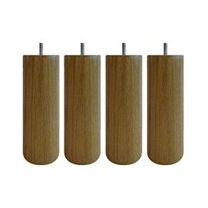 4 Pieds cylindriques chêne Massif 20 cm