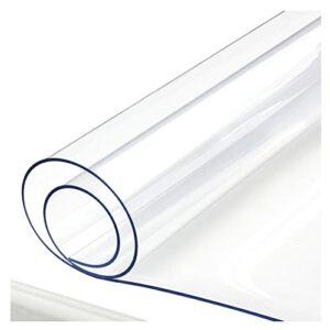 AMDHZ Protectrice for Table/Bureau Verre Mou Tapis Transparent Nappe Souple Housse De Protection De Table PVC for Tapis De Sol Transparent De Table (Color : 1.5mm, Size : 60X120cm)
