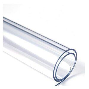 AMDHZ Tapis De Chaise Couverture De Table Transparente en PVC Tapis Transparent Protecteur Plastique Pad en Verre Souple for Table De Bureau À Manger (Color : 1.5mm, Size : 80X150cm)