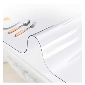AMDHZ Tapis Transparent Plastique Souple Tapis Chaise De Bureau Étanche Set De Table Transparent Tapis De Table Basse Plaque De Cristal Film Protecteur (Color : 1.5MM, Size : 120x150cm)