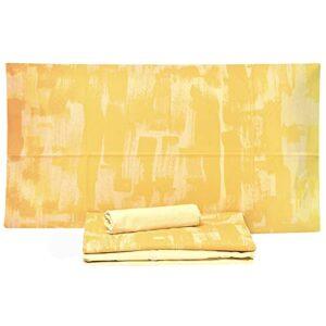 Bassetti Parure de lit avec 2 taies d'oreiller 100 % pur coton, drap-housse + drap plat + taies d'oreiller (Up Beat 01, place et demie)