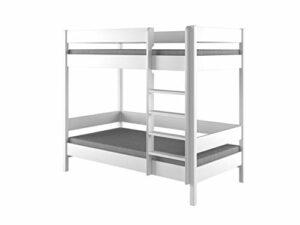 Cadre en bois pour lit superposable, blanc, par Dino bunk bed, Bois dense, blanc, 140x70x160