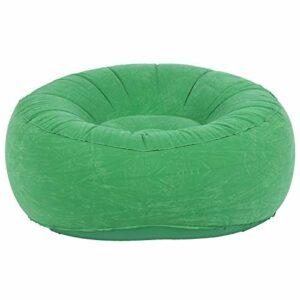 Chaise de canapé Simple floquée, Chaise de Sac de Haricot Ultra Douce en matériau PVC de Vie intéressante pour Le Jardin de Balcon de Salon pour la Cour extérieure de Camping(Vert Clair)