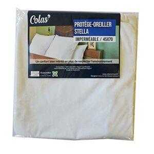 Colas Normand – Protège Oreiller imperméable Stella 45x70cm – 100% Coton Bio certifié OCS et recyclé – Extensible – Souple et résistant – Fermeture éclair