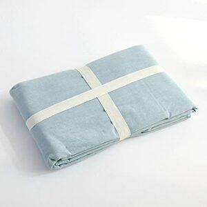 Draps en Pur Coton lavé guiyuan et Coton à Carreaux lit Simple pour dortoir Double Drap Bleu 200x230CM