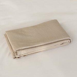 Draps en Pur Coton lavé guiyuan et Coton à Carreaux Simple literie Double dortoir Drap de lit Beige 120×200 + 25CM