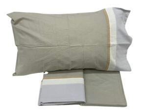 Fazzini Parure de lit simple en flanelle chaude de pur coton art. Soft (Naturel 00)