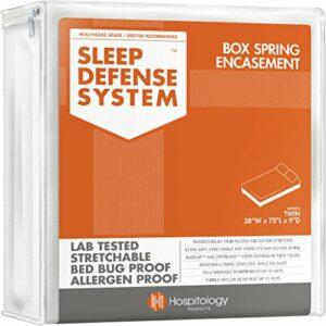 Hospitology Sommeil Système de défense punaises de lit tapissier 2, Twin