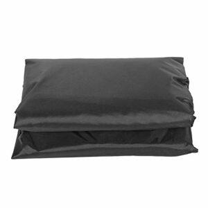 Hot Spring Cover Polyester Taffetas Rain and Dust Cover Pliable Facile à installer et à démonter(le noir)