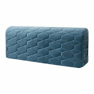 Housse de tête de lit, housse de tête de lit, housse de tête de lit extensible, housse anti-poussière pour chambre à coucher (150 cm, bleu)