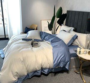 KANGH Couvre-Lit Matelassée Couverture en Microfibre Décoratif Courtepointe Adulte pour 2 Personnes Dessus De Lit avec 2 Taies d'oreiller,Lightblue-1.5/M