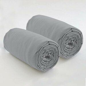 Les Ateliers du Linge – Lot de 2 draps Housses 80×200 cm – pour Lits à sommier articulé – Tissu Lavable 100% Coton – Couleur Unie
