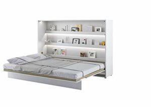 Lit escamotable BED CONCEPT Horizontal 160 x 200 Blanc Satin