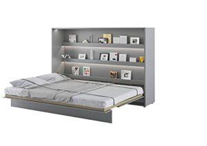 Lit escamotable BED CONCEPT Horizontal 160 x 200 Gris Satin