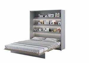 Lit escamotable BED CONCEPT Vertical 160 x 200 Gris Satin