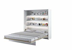Lit escamotable BED CONCEPT Vertical 180 x 200 Blanc Laqué