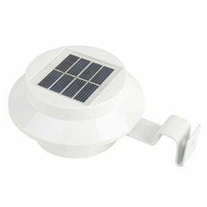 LKJYBG Lot de 6 lampes solaires LED pour gouttières – Pour l'intérieur et l'extérieur – Permanentes ou portables – Pour toute maison, clôture, jardin, garage, abri de jardin