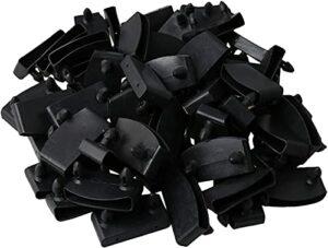 LODCC 50Pcs Supports d'embouts de Lattes de lit en Plastique Noir Tenant des Lattes de Bois Simple
