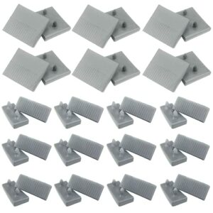 Lot de 12 embouts centraux de lattes de lit, 24 embouts de support de lattes latérales (63 mm x 9 mm à l'intérieur), pour lits simples et doubles, accessoires de connecteur (gris)