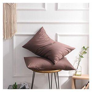 Lot de 2 taies d'oreiller simples pour étudiant, couleur unie