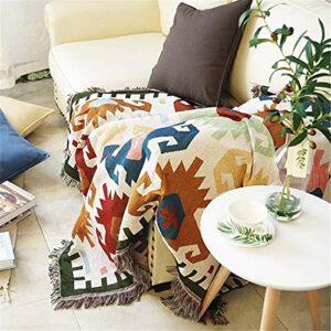 LSZ Couvre-canapé Couverture de canapé Anti-poussière Couverture géométrique Jouets tricotés for Chaise Canapé et lit,Jet de Meubles multifonctionnels Couvre-canapé (Size : 130x180cm)