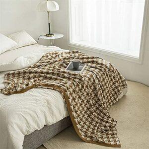 LSZ Couvre-canapé Couverture de Couverture de canapé,Jette en Tricot de Coton,Couverture de Fauteuil de canapé climatisation Couverture décoration de la Maison Couvre-canapé