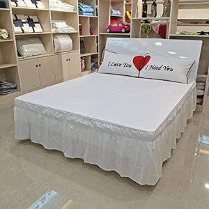 NCCTRW Jupe lit Enroulez Autour de la Jupe de lit plissé,3Sside 100% Polyester Respirer Une Jupe de lit Classique rempliable-F-135 * 200+40 Linge de lit (Color : I, Size : 120 * 200+40)