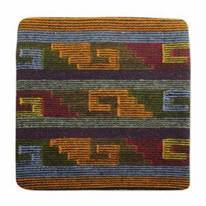 NOVICA Coussin en Laine de Coton, Couverture « » zapotèques Steps Multicolore