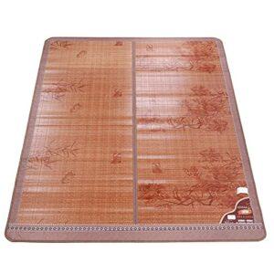 Tapis de couchage rafraîchissant en fibre de bambou lisse avec haute dureté et durabilité pour une utilisation en été Bord exquis (180 x 195 cm, bleu)