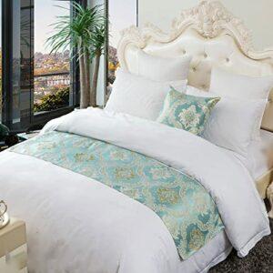 XZJJZ Chemin de lit, Couvre-lit de décoration de lit Moderne de Luxe élégant sans décoloration par Le lit, adapté à la Chambre d'hôtel de Chambre à Coucher avec canapé, ép 50x210cm