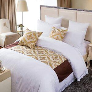 XZJJZ Chemin de lit, Couvre-lit de décoration de lit Moderne élégant et Luxueux sans décoloration près du lit, adapté à la Chambre d'hôtel avec canapé, Couture de Style co 50x180cm