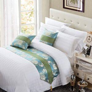 XZJJZ Chemin de lit, élégant, Luxueux, Moderne, Couvre-lit de décoration de lit sans décoloration, adapté au canapé, à la Chambre à Coucher, à la Chambre d'hôtel, aux cout 50x180cm
