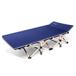 YHshop Lit Pliant Lit Pliant inclinable à la Seule Personne for la Pause de Bureau de Bureau Home Simple Portable Rollaway Bed Lit Lit Pliant Robuste (Color : Blue)