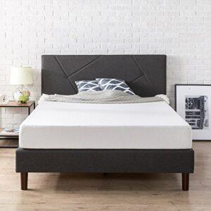 Zinus Cadre de lit à plate-forme géométrique rembourré Judy/ Lits Plateforme/ Pas besoin de sommier/ Soutien solide avec lattes en bois/ Montage facile/ 180 x 200 cm