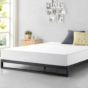 Zinus Cadre de lit à profil bas résistant Trisha 17,78 cm Platforma/ Support de matelas/ Pas besoin de sommier/ Soutien solide avec lattes en bois/ Montage facile/ 90 x 190 cm