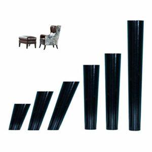 ZYQHJKLHK Remplacement de Jambes de Support de Meubles de 150mm, Placard 4PCS d'armoire de Chaise de canapé de Pieds de Table en Bois Massif Conique